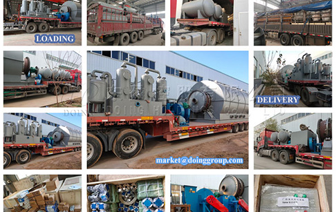 12 sets 12T tyre pyrolysis plant were delivered to Guangxi, China