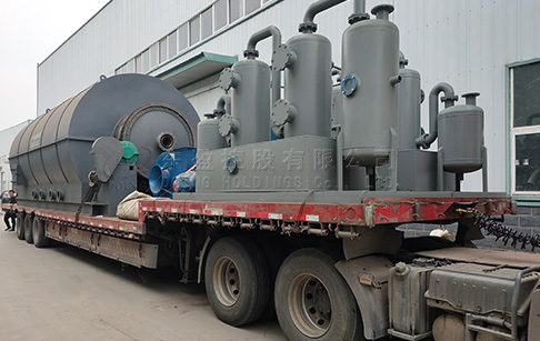 6 sets12T/D waste tyre recycling pyrolysis plant will be delivered to Yunnan, China