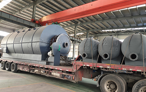 12T waste plastic pyrolysis plant was delivered to India