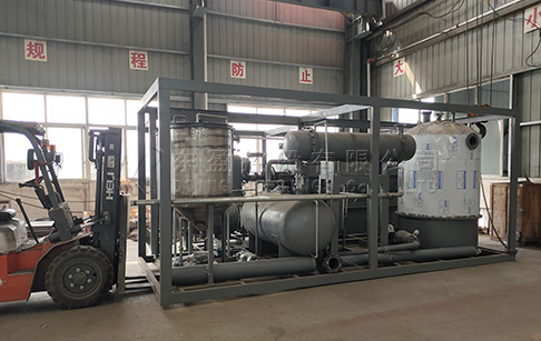 500kg waste tyre pyrolysis plant and 500kg tyre oil distillation machine delivered to Chile