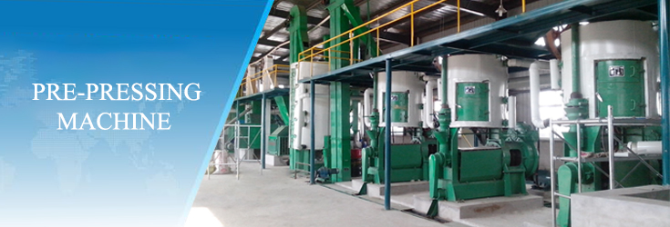 Pretreatment of edible oil processes machinery