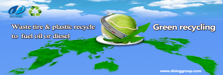 Waste tire & plastic recycle to fuel oil or diesel