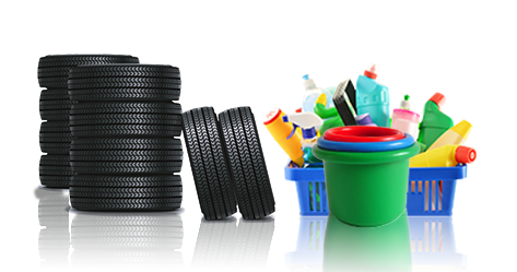 waste tyre and waste plastic